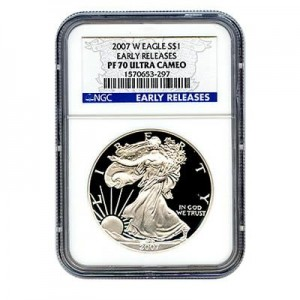 2007 American Silver Eagle Proof NGC PF70 UCAM ER