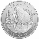 2013 1 oz Canadian Silver Wood Bison (BU)