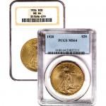 $20 Saint Gaudens Gold Double Eagle (MS64)