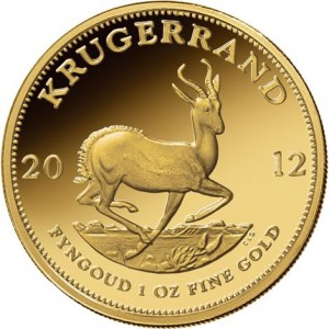 1 oz South African Gold Krugerrand (Varied Year, BU)
