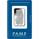 1 oz PAMP Suisse Platinum Bar (New w/ Assay)