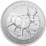 2013 1 oz Canadian Silver Pronghorn Antelope (BU)