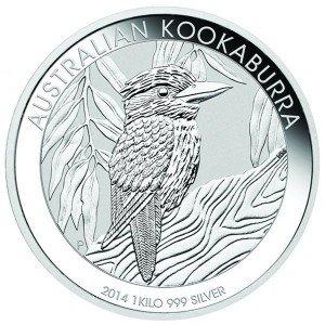 2014 1 Kilo Australian Silver Kookaburra (BU)